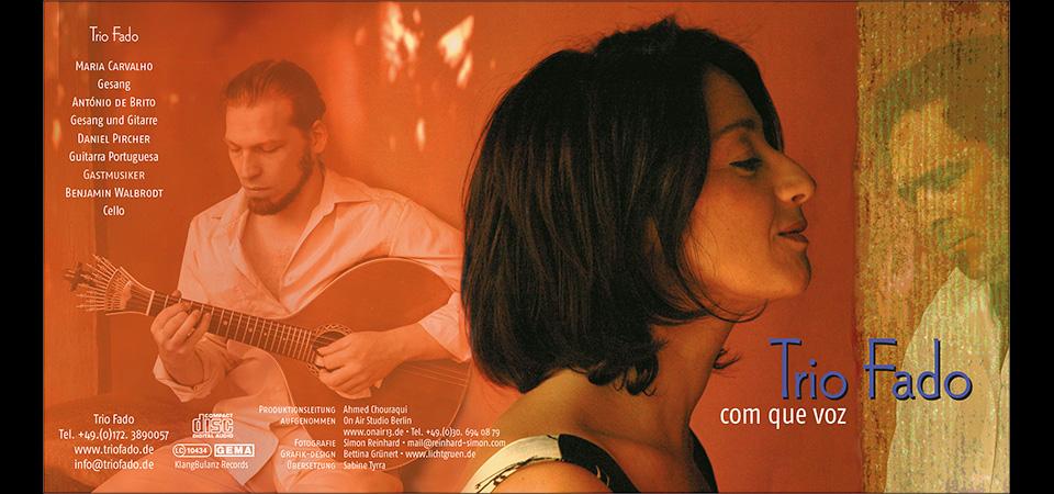 """Die CD von Trio Fado """"Com que voz"""""""