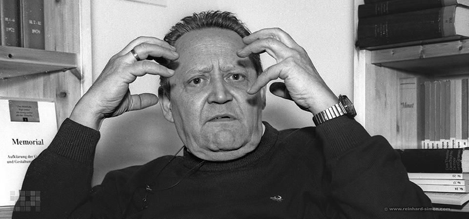 Günther Schabowski und Sigmar Faust im Gespräch