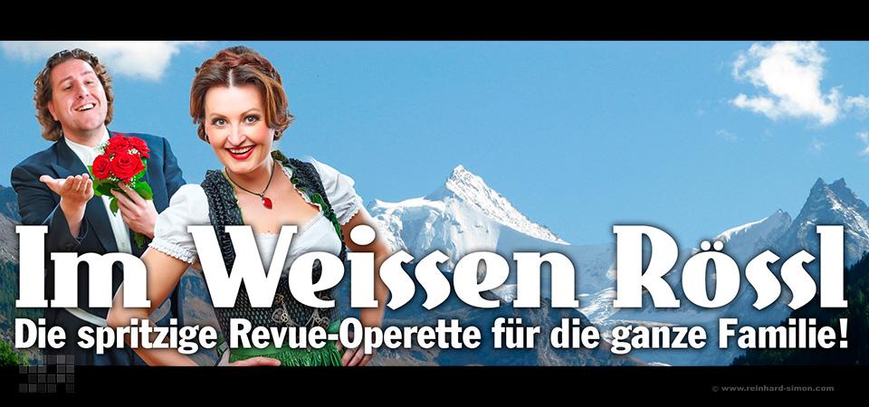 Banner für das Weisse Rössl mit Tonje Haugland und Jens Wassermann