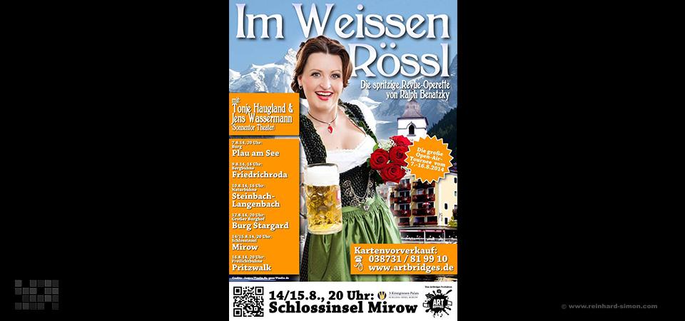 Plakat für eine Weisse Rössl Aufführung mit Tonje Haugland