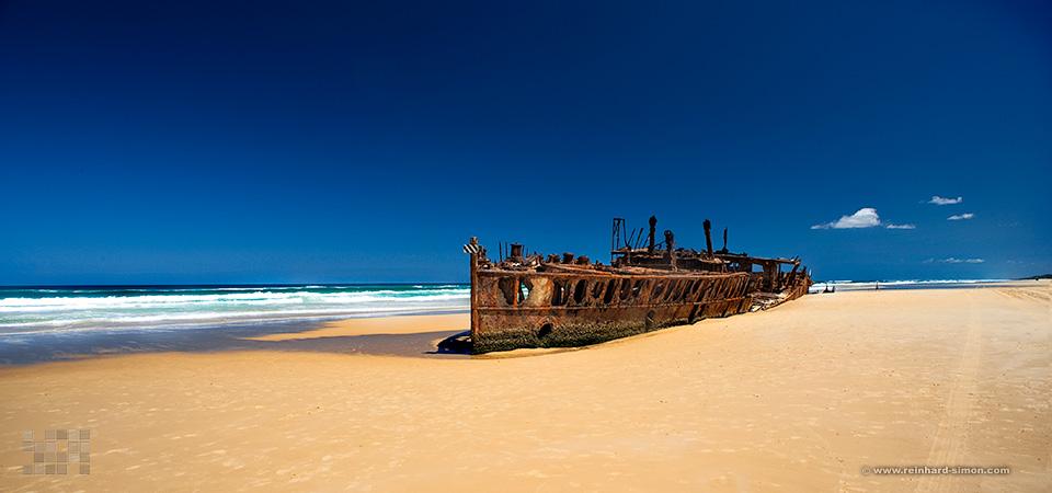 Wrack auf Fraser Island, Australien